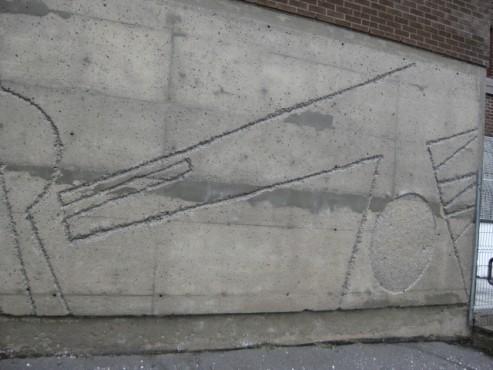 Après 2 - 9944 St-Michel Montréal École Our Lady of Pompei - Nettoyage de béton