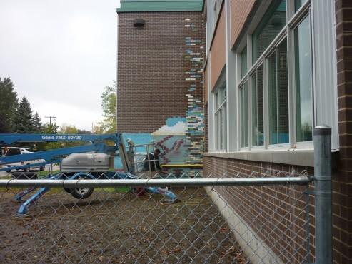 Avant - 4770 rue Lalande, Pierrefond École Pierce Neige - Décapage